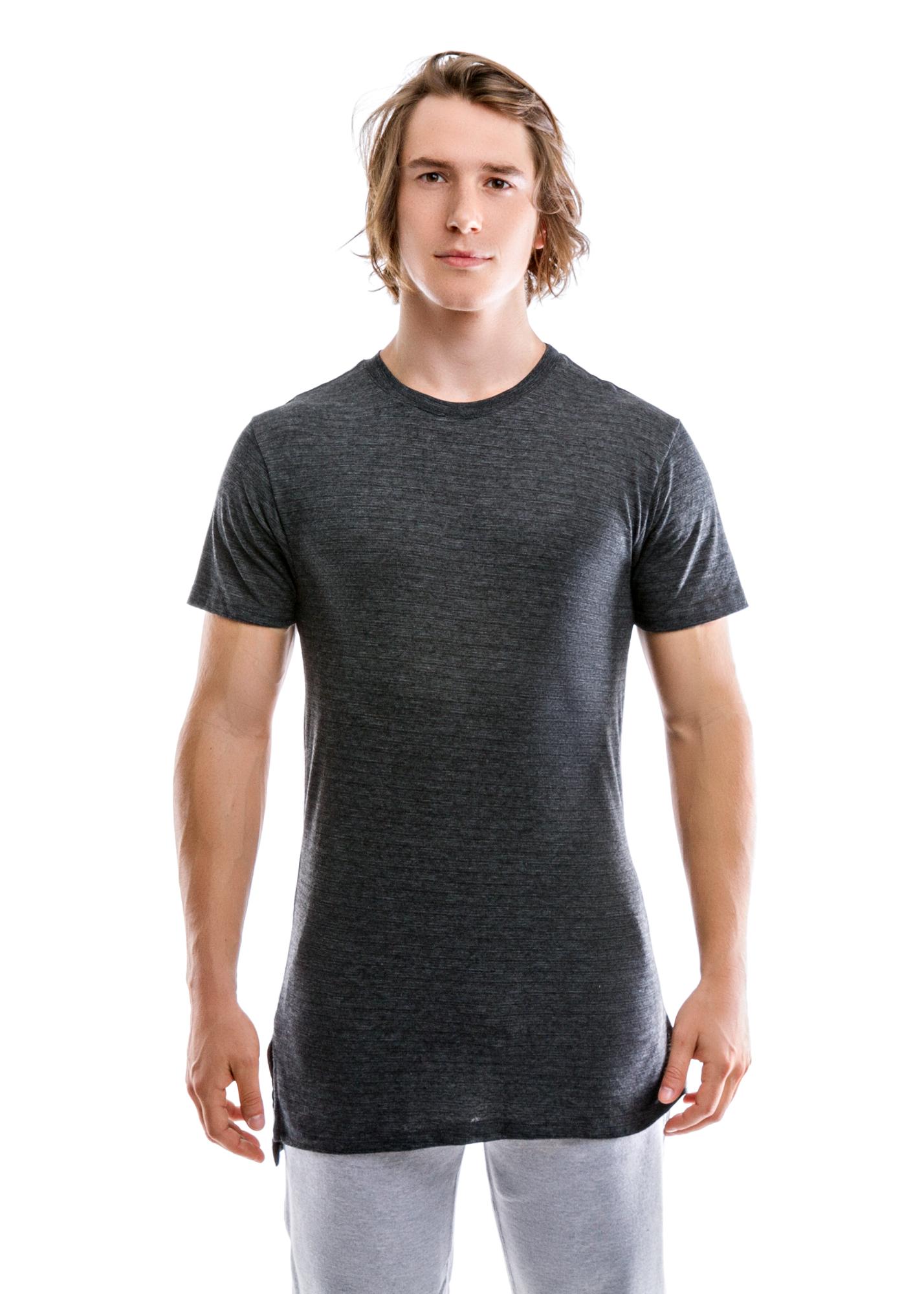 Black triblend slub high low hem shirt entity for What is a slub shirt