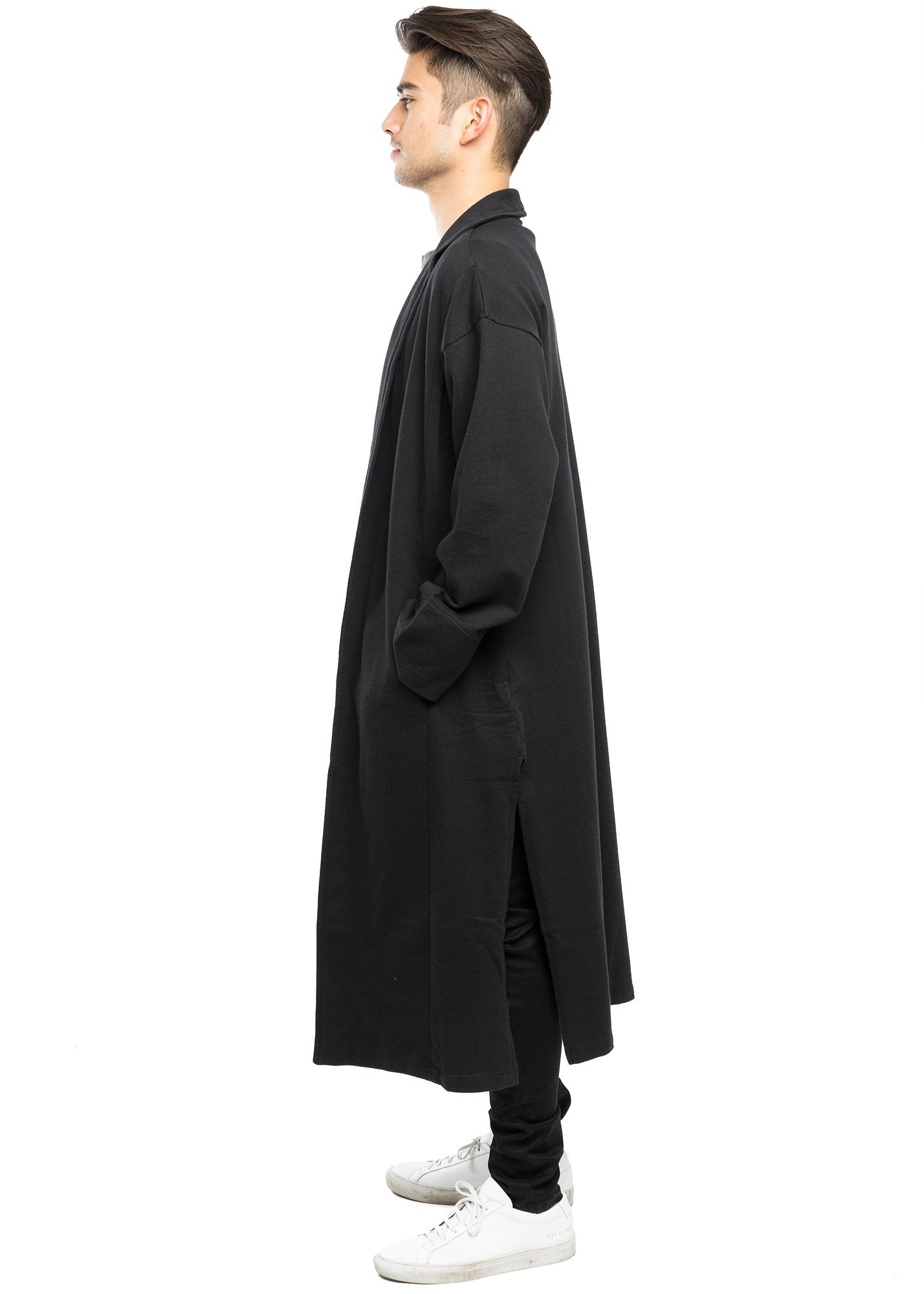 f208a51ba13 Long Kimono Coat - Black - ENTITY