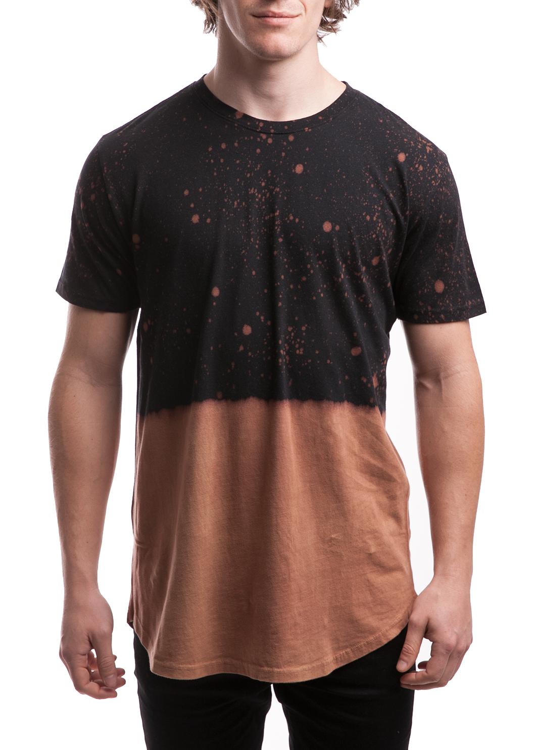 Dip splatter bleach dyed shirt black entity for How to bleach at shirt